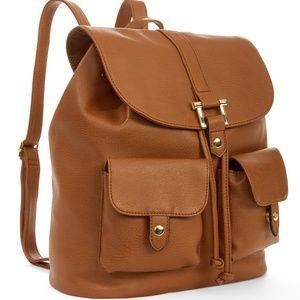 No Boundaries Allie Cargo Backpack Cognac Bag